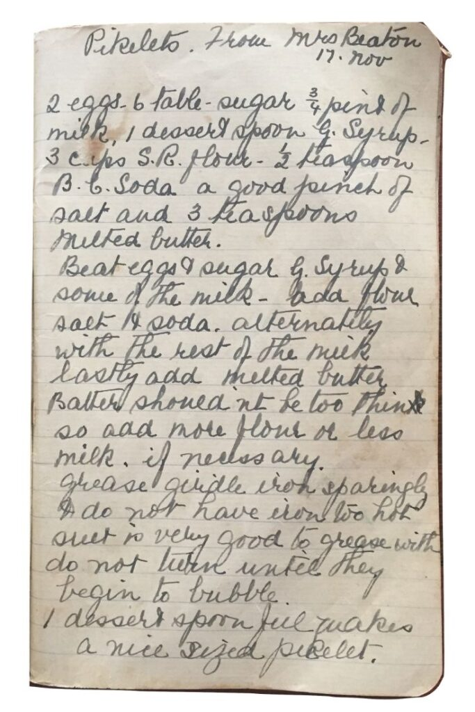 pikelets recipe