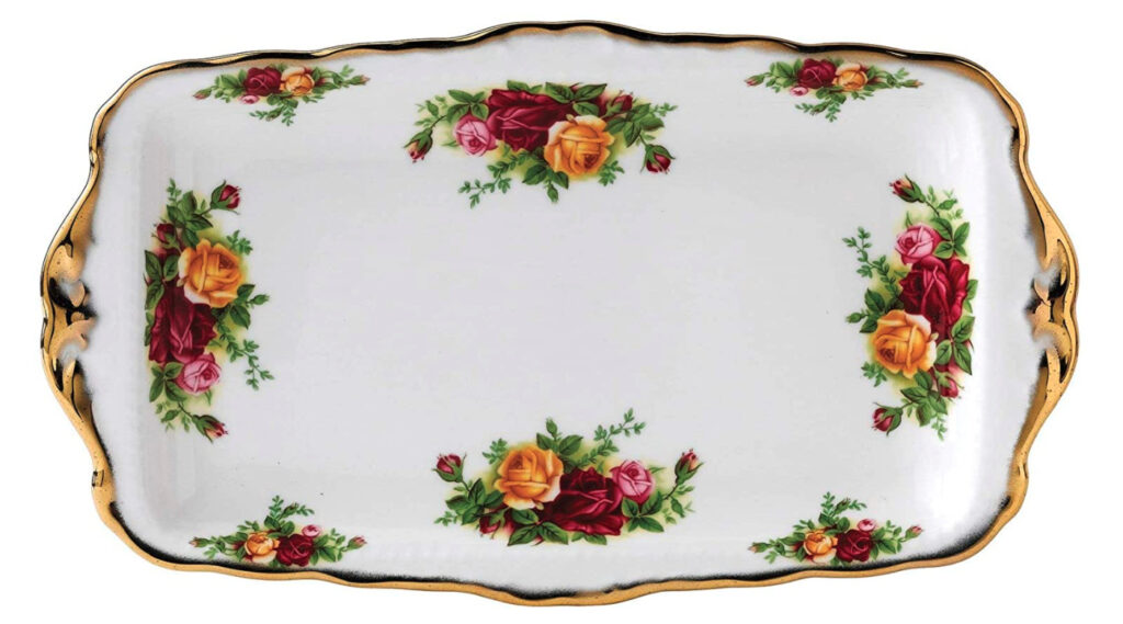 serving platter old country roses design by royal albert