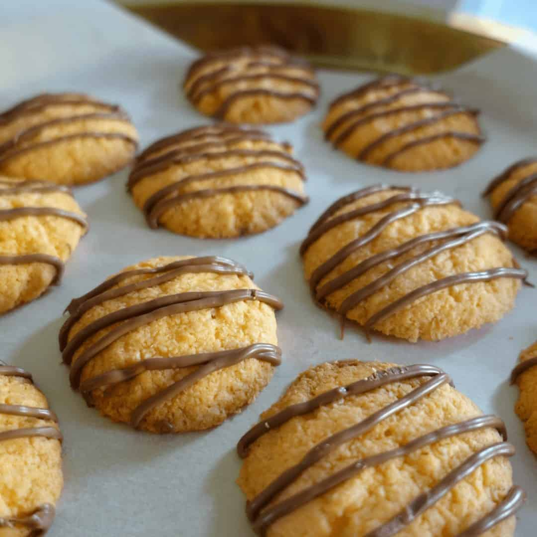Choc Orange Jelly Crystal Cookies