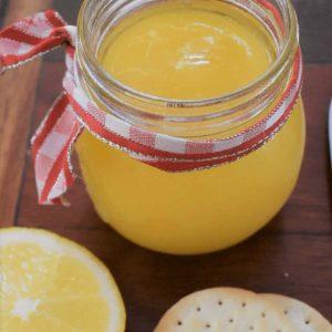 Easy lemon curd in jar