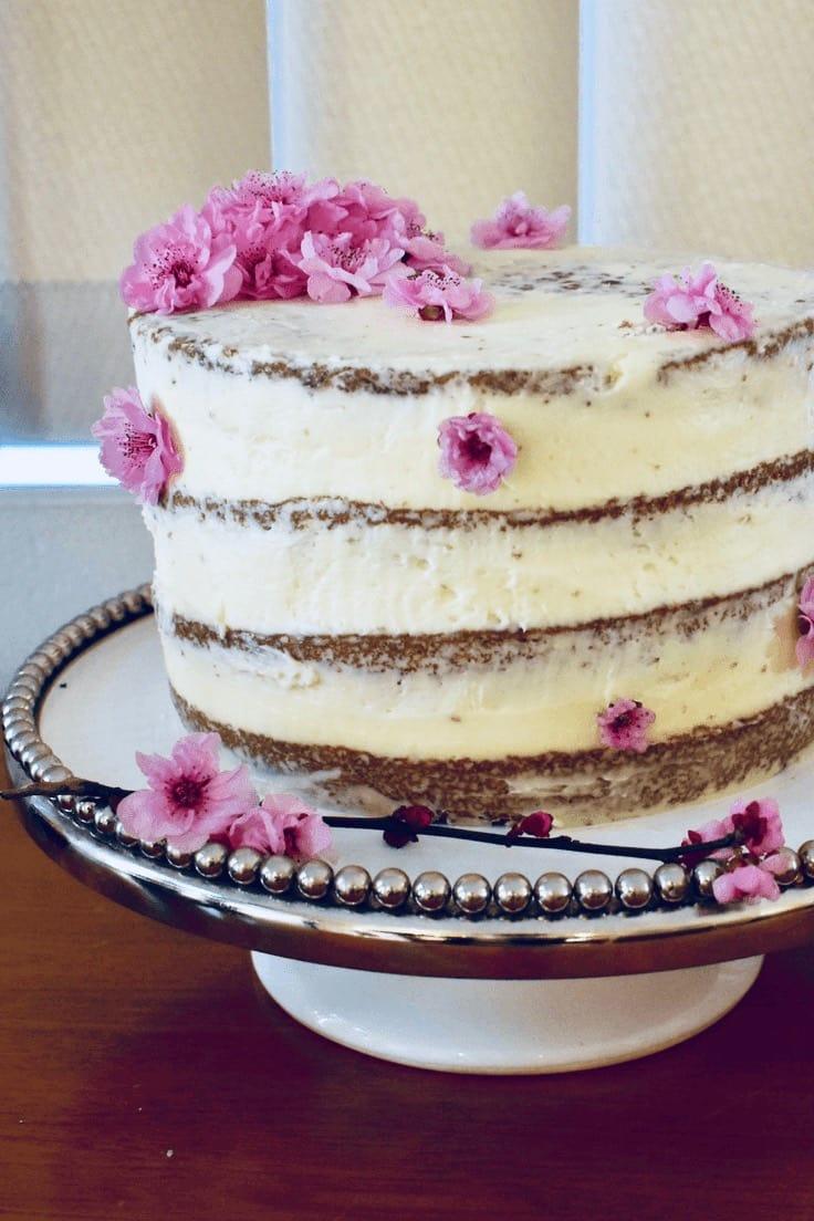Chocolate Layer Cake Semi Naked Blossom Finish