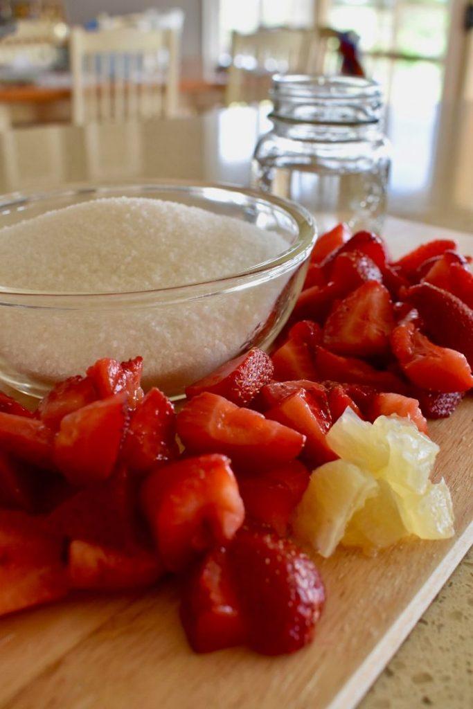 strawberry jam recipe ingredients