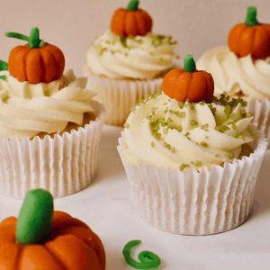 Halloween Cupcakes mini pumpkins