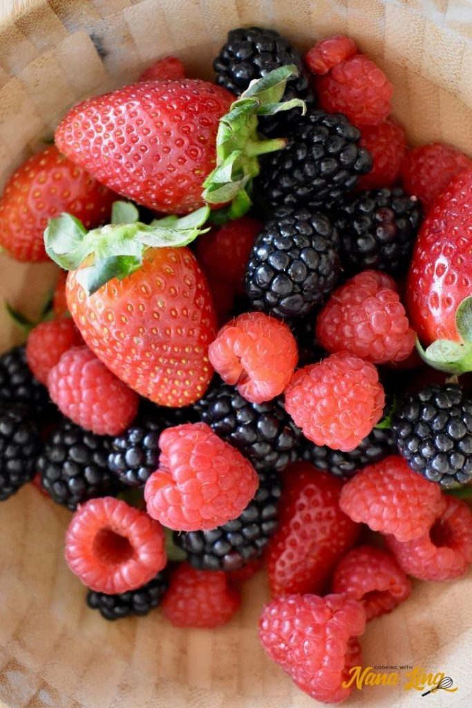 fresh berries for trifle
