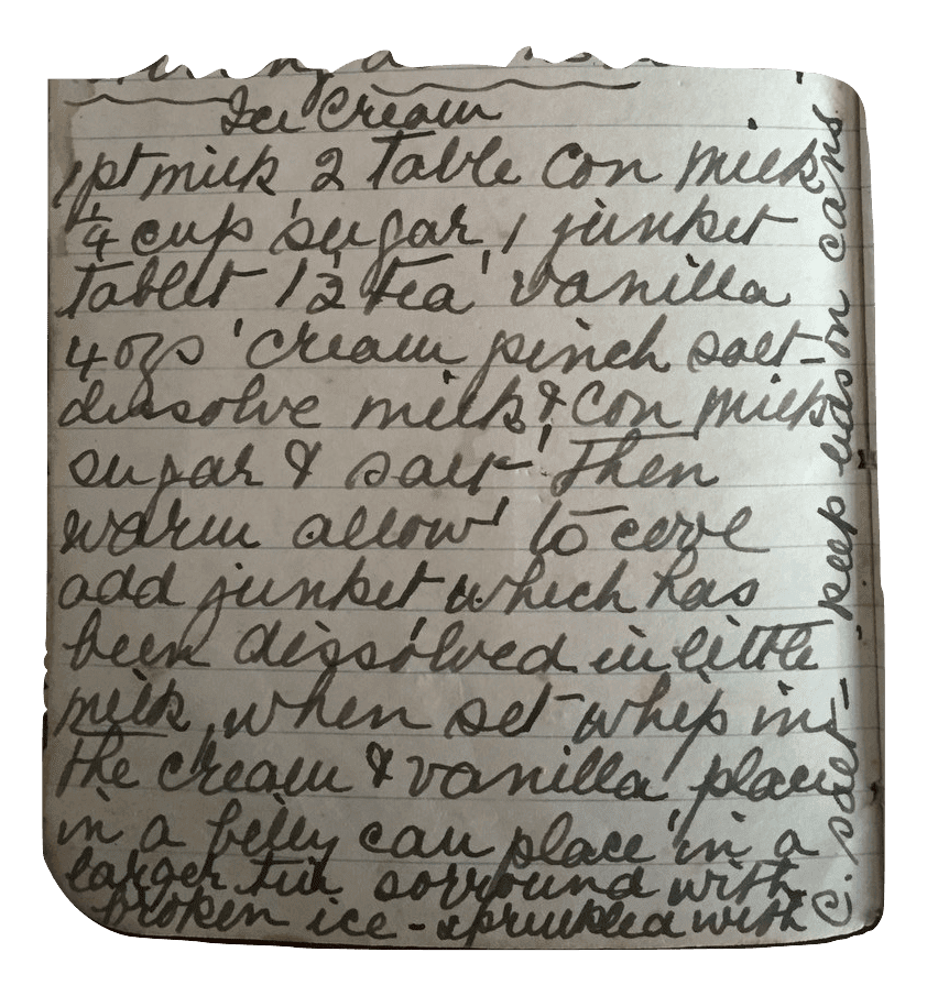 ice cream with junket recipe
