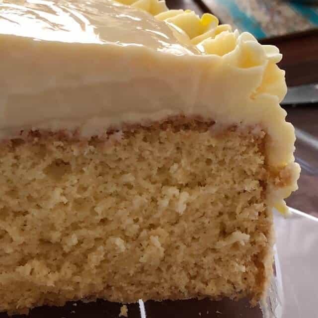 sponge cake cut