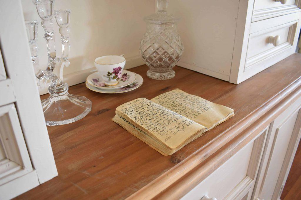 cookbook sitting on shelf