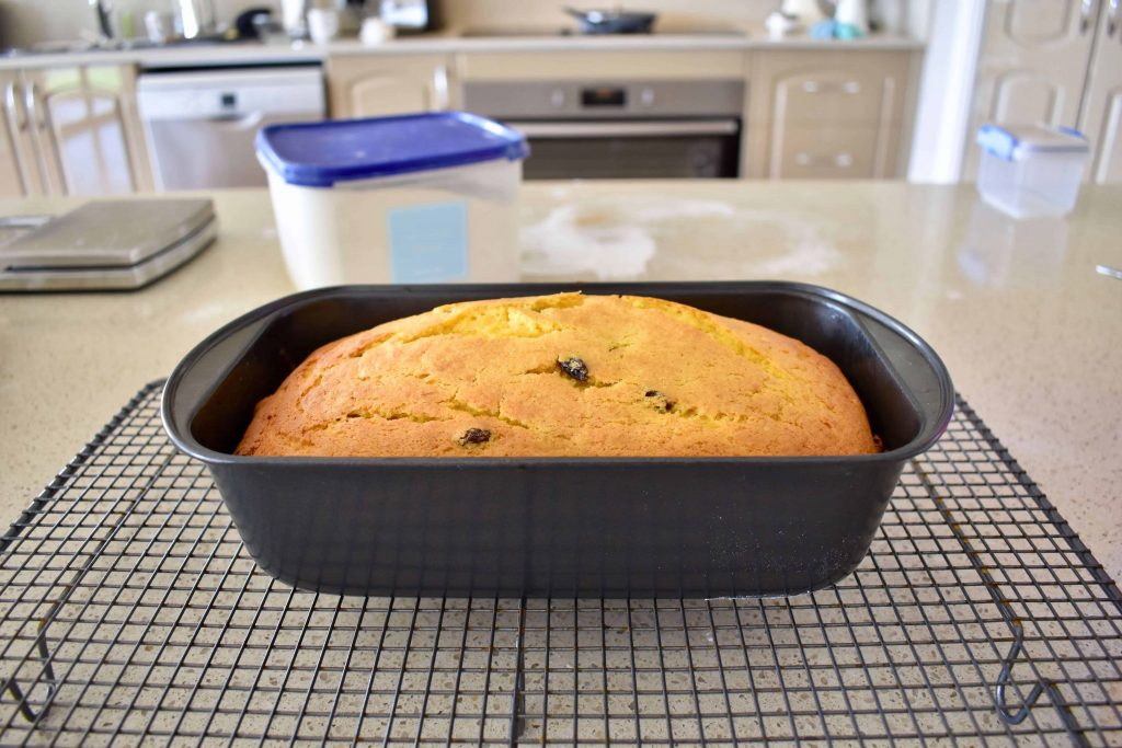 pumpkin cake cooked in tin