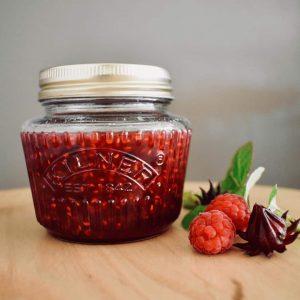 raspberry and rosella jam