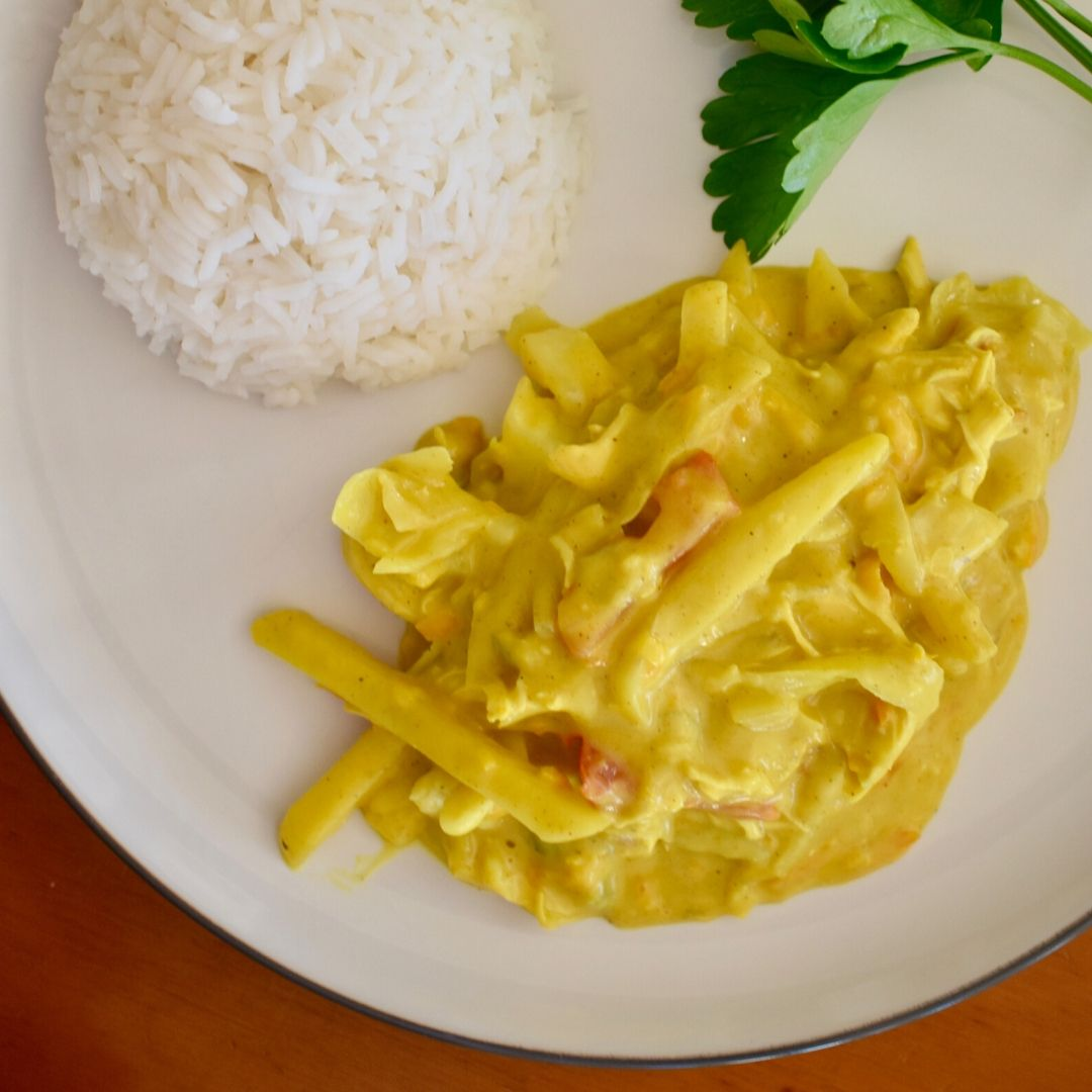 keens chicken curry on plate