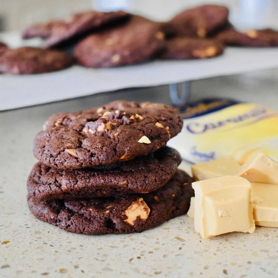 Choc Caramilk Cookies