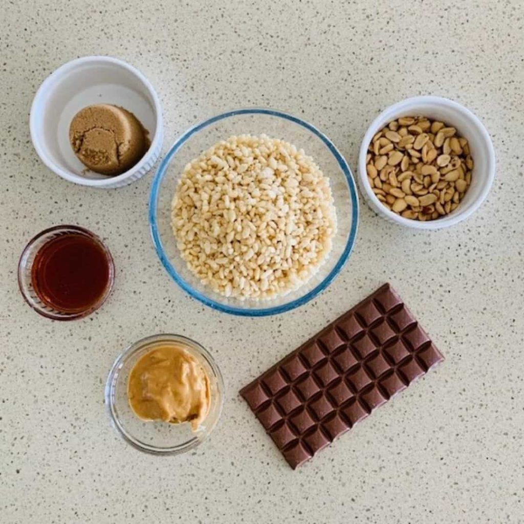 ingredients for crunchy peanut balls