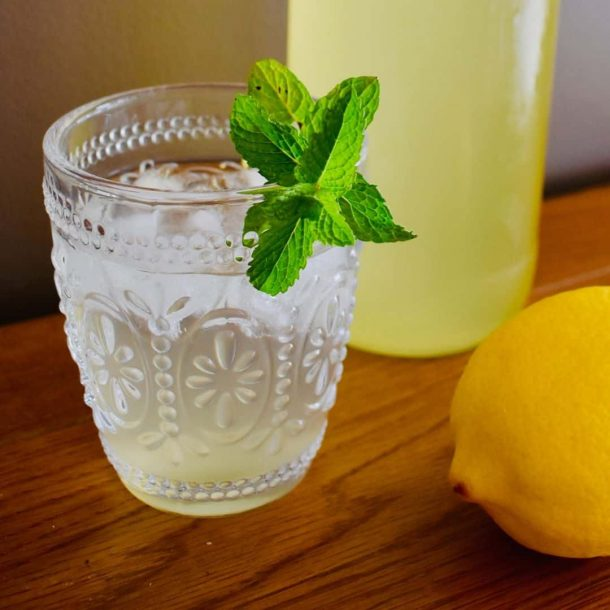 Lemon and Mint Cordial