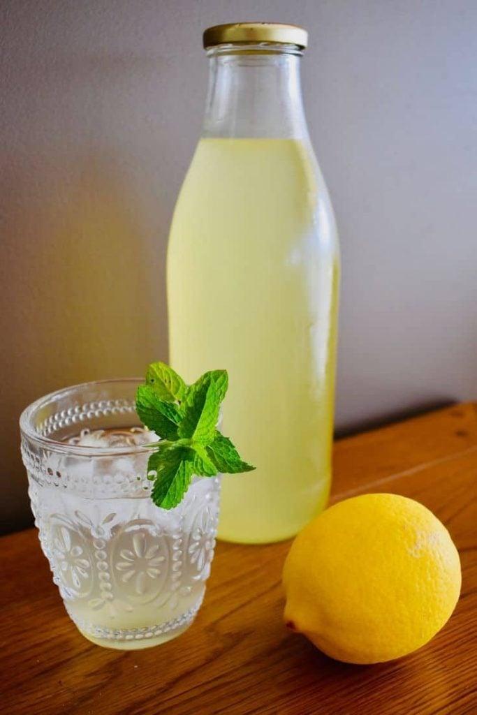 Lemon and Mint Cordial