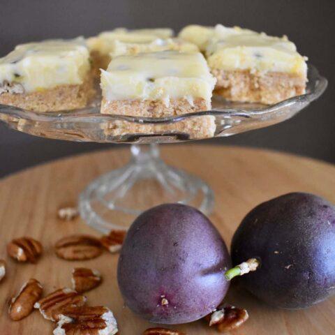 Passionfruit Pecan Slice