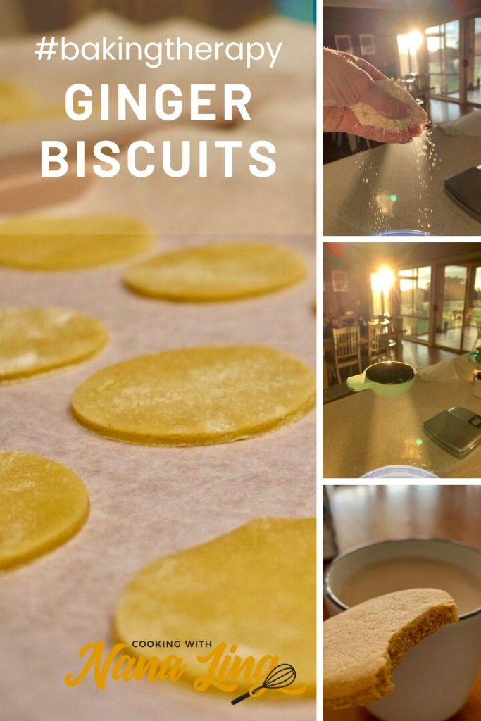ginger biscuits preparation collage