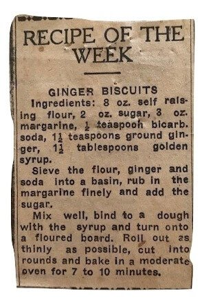 Ginger Biscuits Recipe