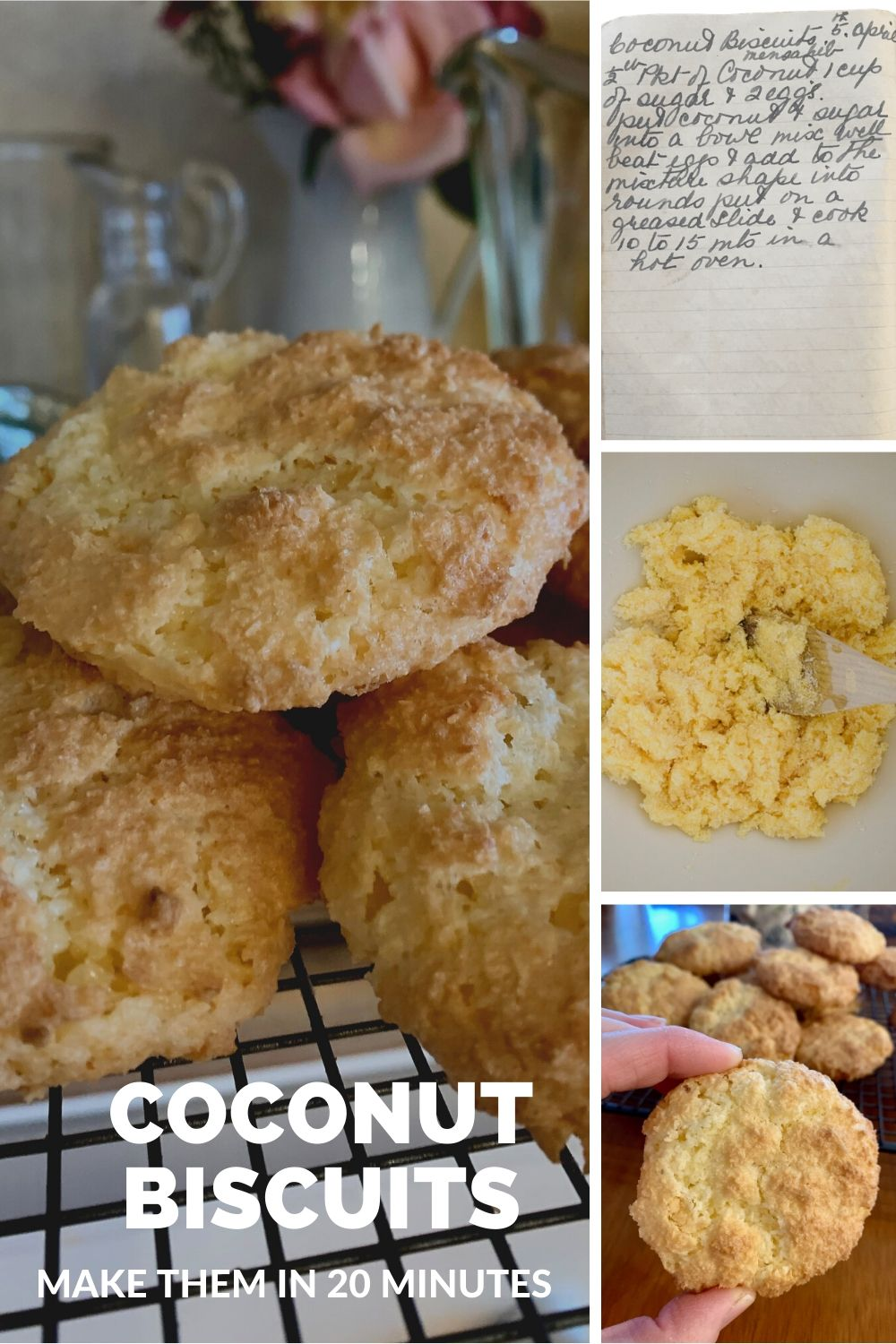 coconut biscuits collage