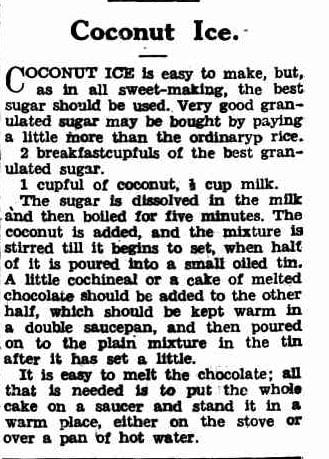 coconut ice recipe
