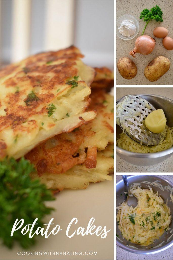 potato cakes collage