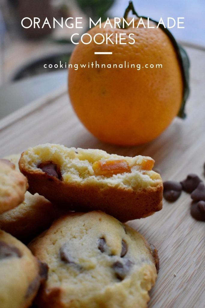 orange marmalade cookies with choc chip variation