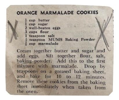 orange marmalade cookies recipe
