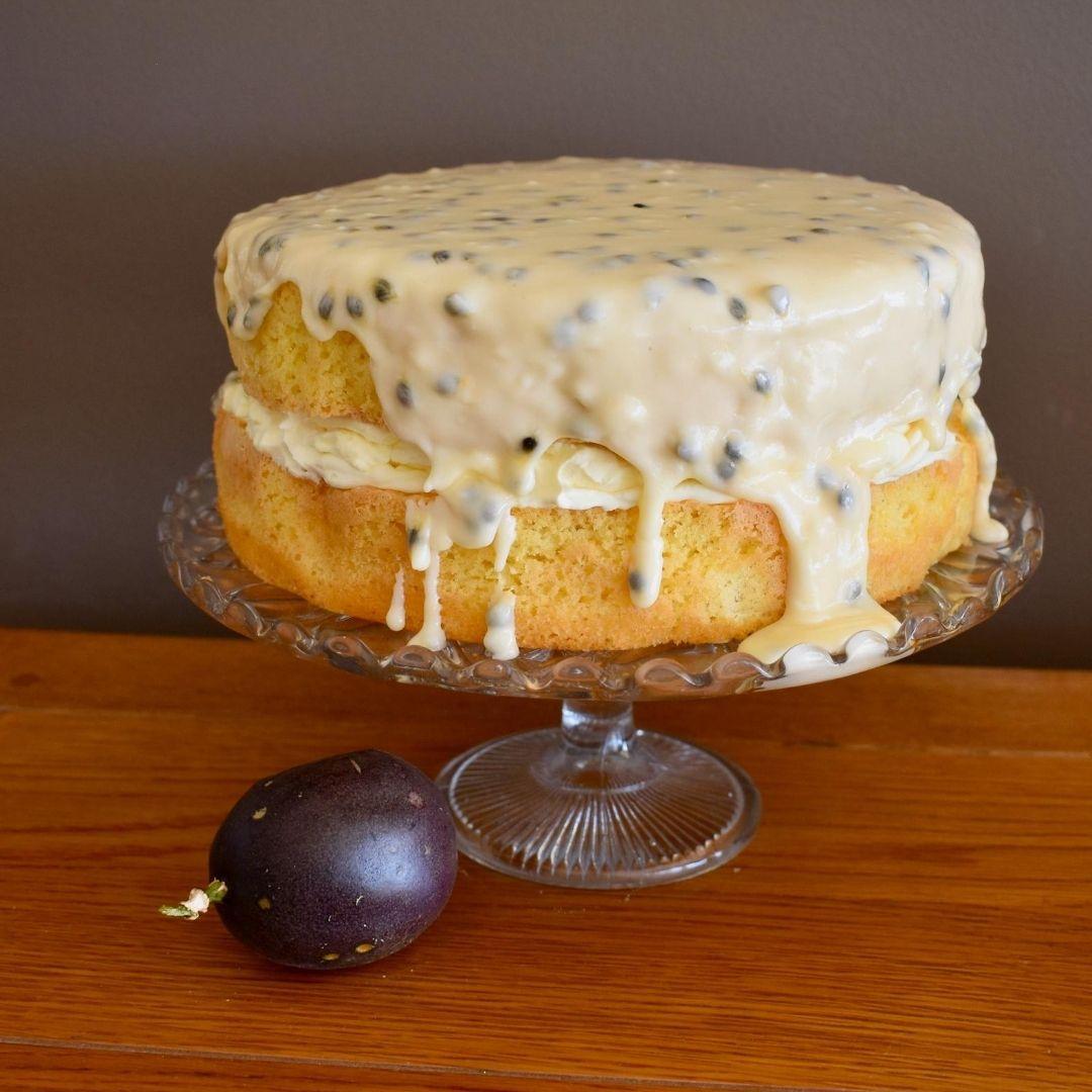 passionfruit sponge cake