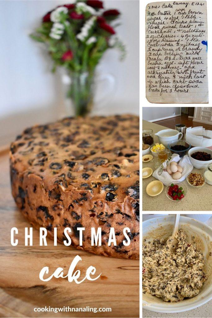 christmas cake method collage