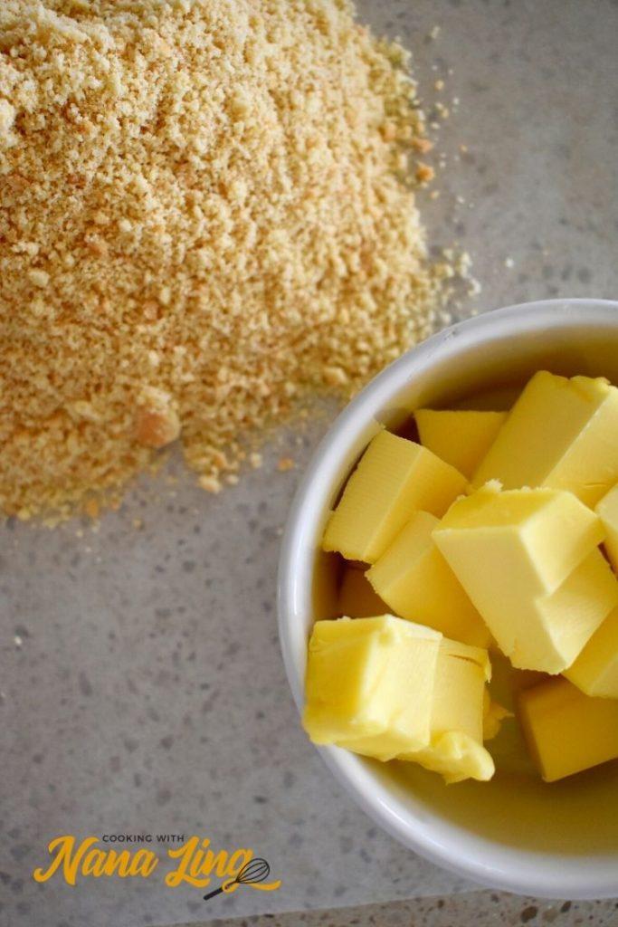 baked mango cheesecake process 1