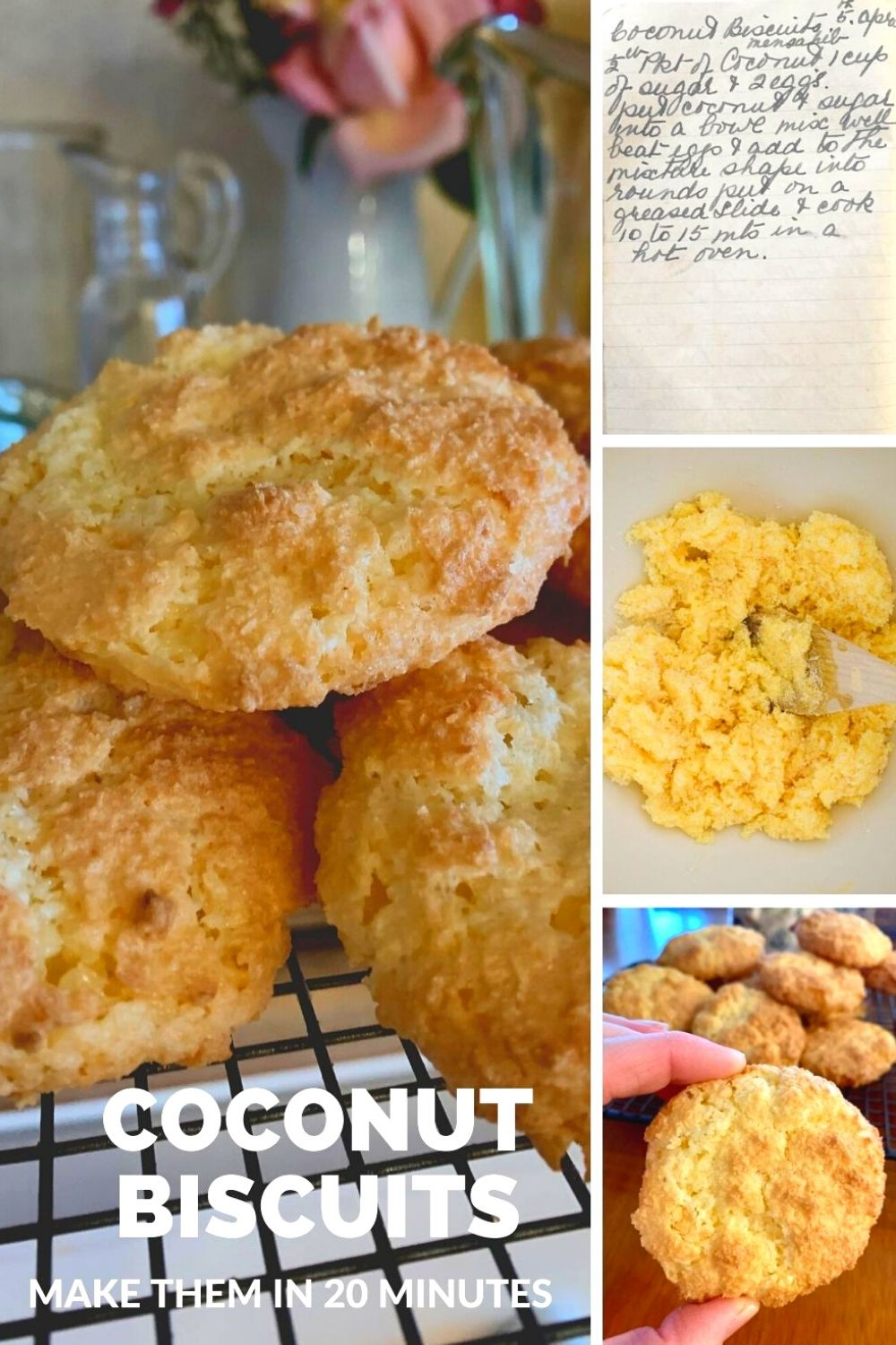 coconut biscuits collage pin