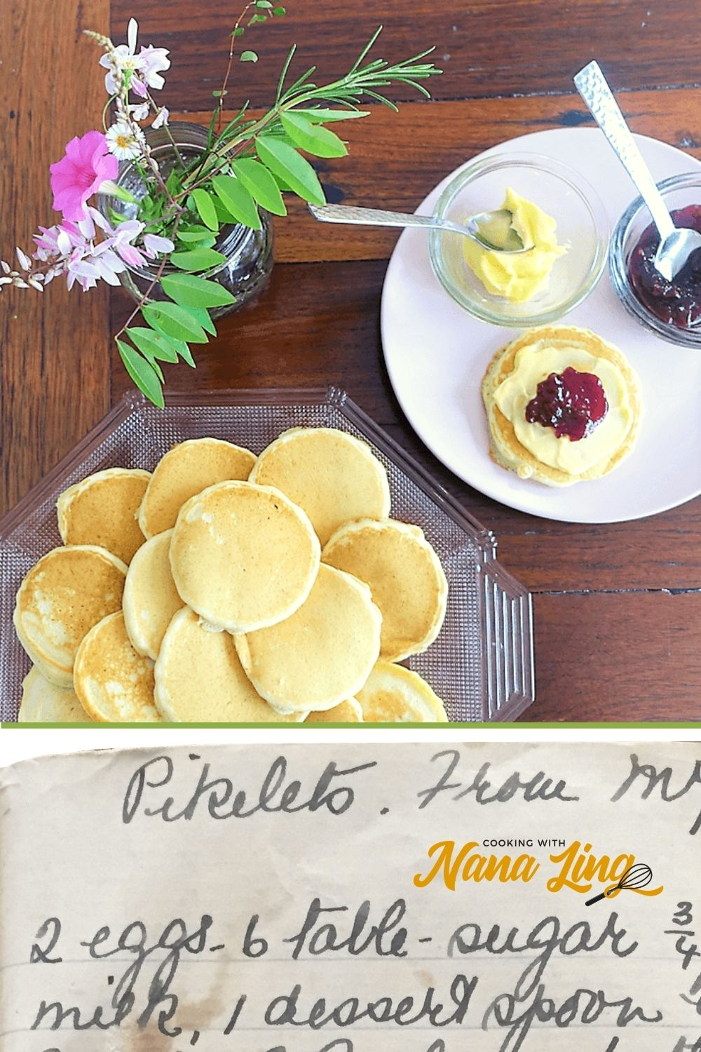 pikelets recipe pin