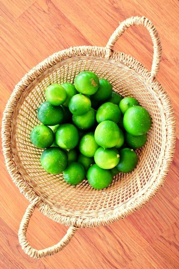 limes in basket