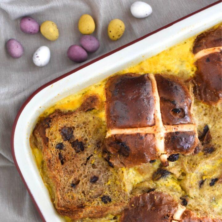 hot cross bun pudding