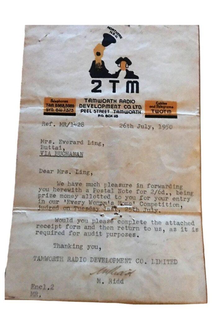 nana ling prize letter
