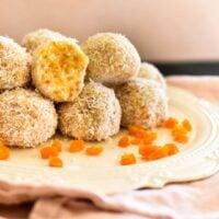 apricot balls on plate