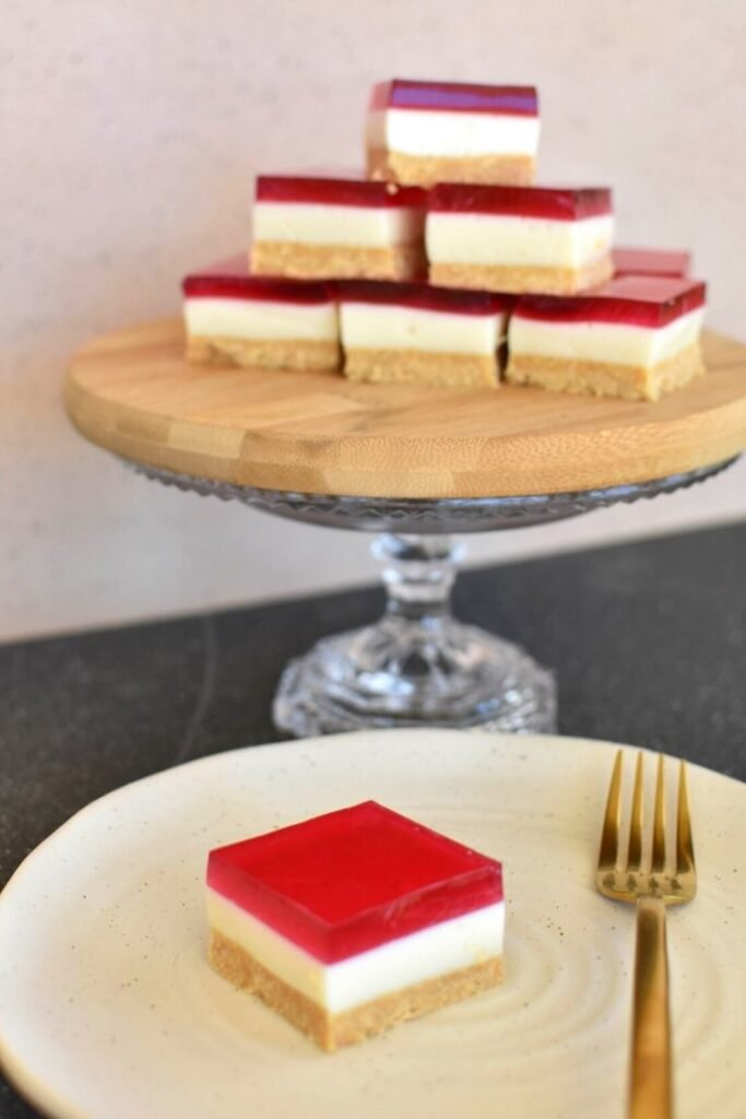 jelly slice on plate