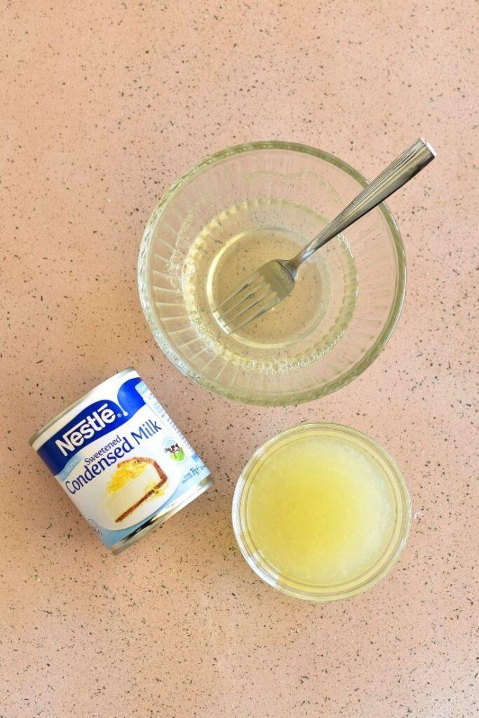 lemon filling jelly slice