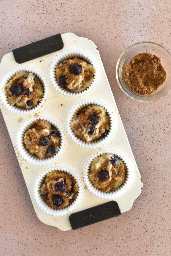 blueberry muffins method sugar