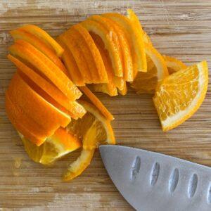 sliced orange for marmalade