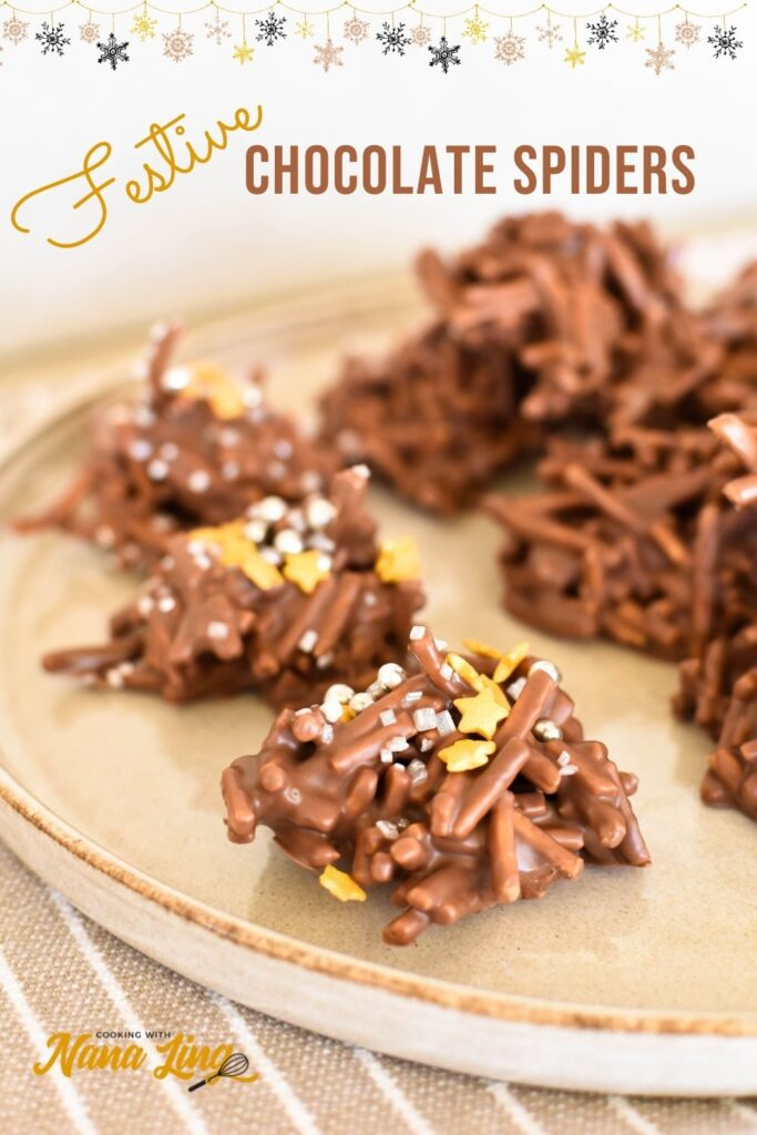 chocolate spiders for christmas