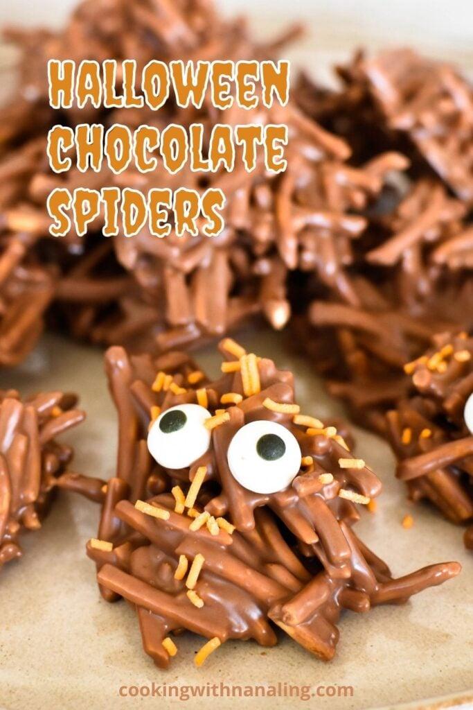 chocolate spiders halloween