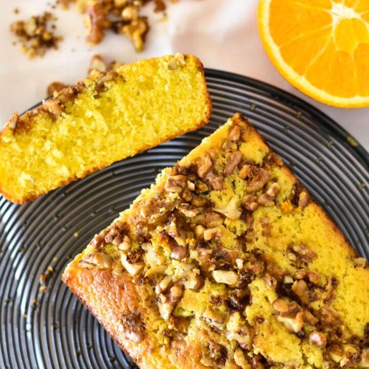 orange and walnut cake