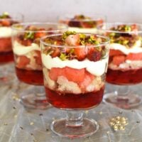 watermelon and rosewater trifles