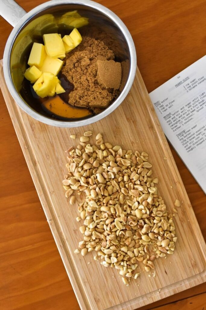 caramel peanut slice ingredients